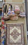 Veliko Tarnovo BG, 15 Augustus: Herinneringenopslag in de Middeleeuwse stad Veliko Tarnovo van Bulgarije Stock Foto's