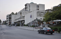 Veliko Tarnovo BG, le 15 août : Vue de rue dans la ville médiévale Veliko Tarnovo de Bulgarie Photos libres de droits