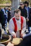 VELIKO TARNOVO, BUŁGARIA, KWIECIEŃ 04 2015, Żywa demonstracja a Zdjęcia Royalty Free