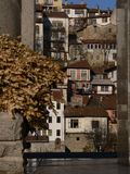 Veliko Tarnovo, Bulgária O monumento de Asenevci que é dedicado aos reis Asen, Peter, Kaloyan e Ivan Asen II fotografia de stock royalty free