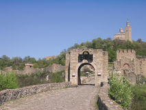 Veliko Tarnovo, Bulgaria. The Tzarevetz Castle stock photo