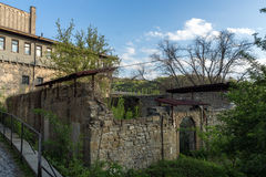 VELIKO TARNOVO, BULGARIA - 9 APRIL 2017: Ruins of Church of St. Spas in city of Veliko Tarnovo. Bulgaria Stock Image