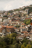 Veliko Tarnovo - Bulgaria. Veliko Tarnovo in Bulgaria. Famous town located on three hills,  famous as the historical capital of theSecond Bulgarian Empire Royalty Free Stock Photo