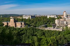 Panoramic view of State Art Gallery Boris Denev in city of Veliko Tarnovo, Bulgaria stock images