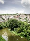 Veliko Tarnovo, Bulgaria. View of the city of Veliko Tarnovo and the Yantra River in Bulgaria Royalty Free Stock Images