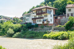 Veliko Tarnovo in Bulgaria. Yantra River Embankment Stock Image