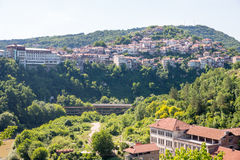 Veliko Tarnovo in Bulgaria. Yantra River Valley Stock Photo