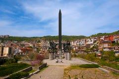 Veliko Tarnovo, Bulgarien am 15. April 2018 Monument zu Asen Dyn Lizenzfreie Stockbilder