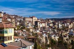 Veliko Tarnovo a détaillé la vue de ville image stock