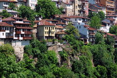 Veliko Tarnovo in de Lente Royalty-vrije Stock Foto