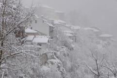 Veliko Tarnovo on Foggy Winter Day Royalty Free Stock Photo