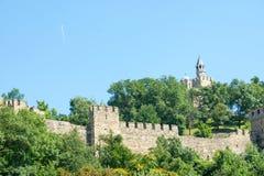 Veliko Tarnovo. Fortress Tsarevets and the plane Royalty Free Stock Photography