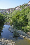 Veliko Tarnovo on hill Royalty Free Stock Image