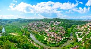 Veliko Tarnovo, la capitale storica della Bulgaria Fotografia Stock Libera da Diritti