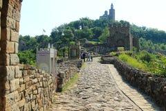 Veliko Tarnovo, la fortezza di Tsarevets Immagine Stock