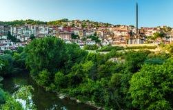 Veliko Tarnovo and monument to Asen dynasty. stock photos