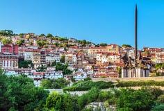 Veliko Tarnovo och monument till Asen dynasti Royaltyfria Foton