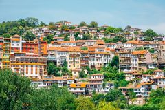 Veliko Tarnovo old town panoramic view in Bulgaria