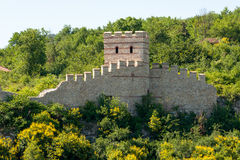 Veliko Tarnovo. Part of an old fortress wall Stock Image
