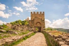 Veliko Tarnovo slottport Royaltyfria Foton