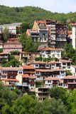 Veliko Tarnovo townscape. Veliko Tarnovo in Bulgaria. Old town located on three hills Royalty Free Stock Image