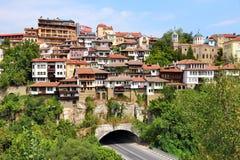 Veliko Tarnovo tunnel. Veliko Tarnovo road tunnel in Bulgaria. Old town located on three hills royalty free stock photos