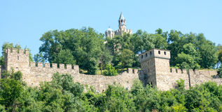 Veliko Tarnovo. Wall Fortress Tsarevets. Veliko Tarnovo - the old capital of Bulgaria. The city is located at the intersection of strategic roads, and is rich in Stock Images