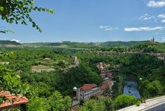 Veliko Tarnovo Widok hils i Yantra ri Trapesitsa, Tsarevets, Fotografia Royalty Free