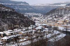 Veliko Tarnovo in the Winter Stock Photography