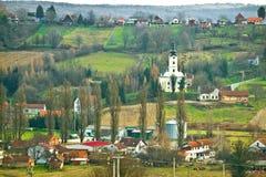 Veliko trojstvo village hill view Stock Photography