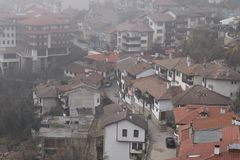 Veliko Turnovo, Bulgaria Una visión foto de archivo