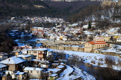 Veliko Turnovo in the Winter Stock Photo