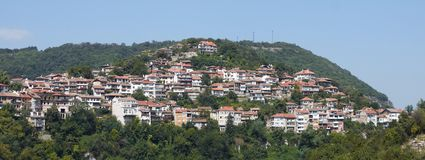 Veliko Tyrnovo. Bulgaria. Panorama of Veliko Tyrnovo in Bulgaria Stock Photos