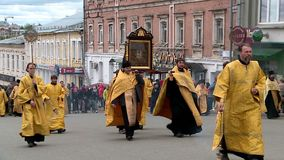 Velikoretsky procession av korset i Kirov p? Juni 3, 2018 lager videofilmer