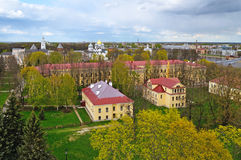 Veliky诺夫哥罗德,俄罗斯-其中一个的中心概略的看法最古老的俄国城市 免版税库存图片