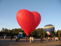 Veliky Novgorod Día de fiesta de globos fotos de archivo libres de regalías