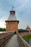 Veliky Novgorod, de gevechtsbeweging van de citadel Stock Foto's