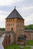 Veliky Novgorod, de toren van de citadel Royalty-vrije Stock Foto's