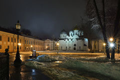 Veliky Novgorod het Kremlin Stock Foto's