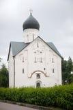 Veliky Novgorod Kerk van de Transfiguratie van Onze Verlosser Royalty-vrije Stock Foto's