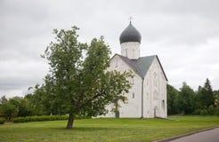 Veliky Novgorod Kirche der Transfiguration unseres Retters lizenzfreie stockbilder