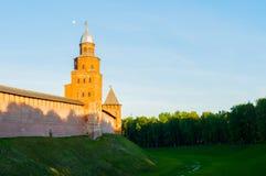 Veliky Novgorod Kremlin fortress. Kokui and Prince towers in Veliky Novgorod, Russia - architecture view Stock Photo