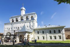 Veliky Novgorod, Kremlin, la tour de cloche Photos stock