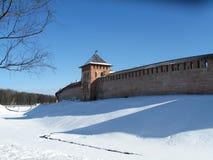 Veliky Novgorod, Kremlin, zima Zdjęcia Royalty Free