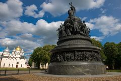 VELIKY NOVGOROD, millennio del monumento della Russia immagine stock libera da diritti