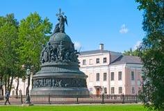 Veliky Novgorod Rússia Monumento aos mil anos de Rússia Imagem de Stock
