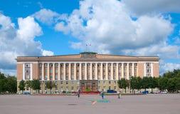 Veliky Novgorod Rússia O governo da região de Novgorod imagens de stock royalty free
