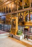 Interior of the Russian orthodox St. Sophia Cathedral in Veliky Stock Image
