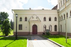 Veliky Novgorod, Russia. The building of the Novgorod Museum of Antiquities, built in 1892 Stock Photo