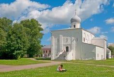 Veliky Novgorod. Russia. Church on The Yaroslav's Court Stock Photography